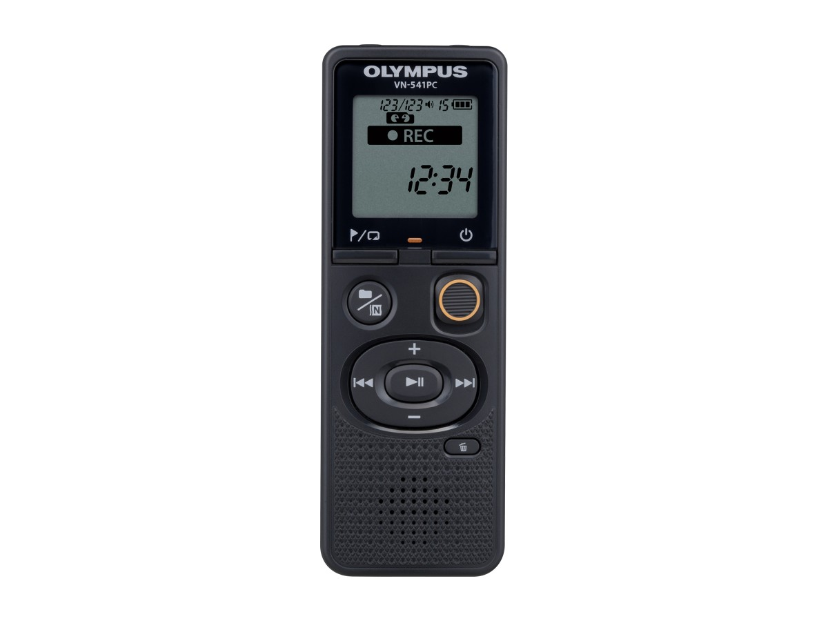 One-touch voice recording – the Olympus VN-541PC is the perfect